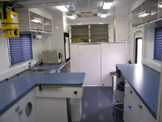 Mobile Veterinary Clinic Interior