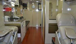 Bloodmobile Interior
