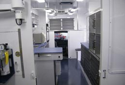 26ft Mobile Spay Neuter Clinic Interior