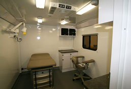 28' Mobile Medical Clinic Interior