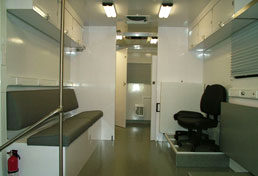 33' Mobile Command Center Interior