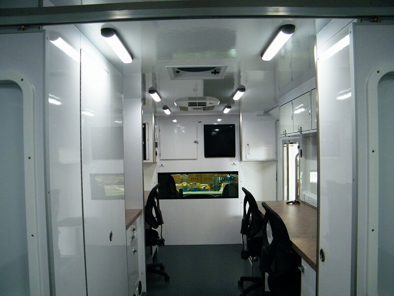 28ft Mobile Command Center interior view