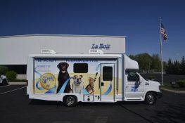 mobile veterinary clinic passenger side view