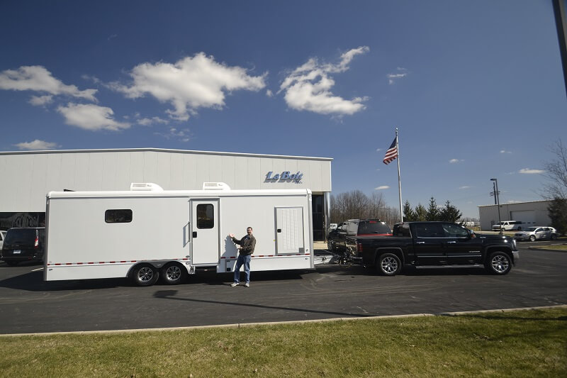 mobile veterinary trailer with truck