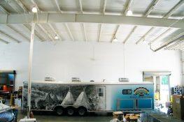 mobile dental trailer exterior
