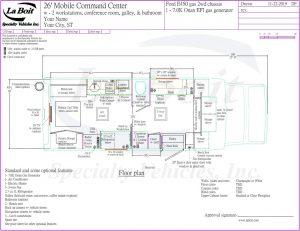 26ft Mobile Command Center Standard Floor Plan