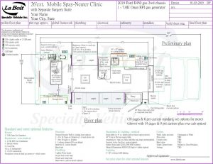26ft Mobile Spay Neuter Clinic Standard Floor Plan