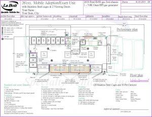 26ft Mobile Spay Neuter & Adoption Clinic Standard Floor Plan