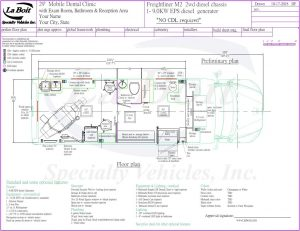 29ft Mobile Dental Clinic One Chair Floor Plan