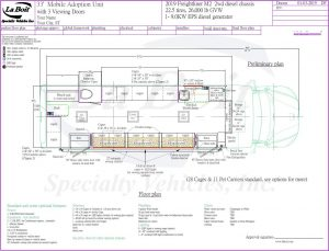 33ft Mobile Adoption Clinic Standard Floor Plan