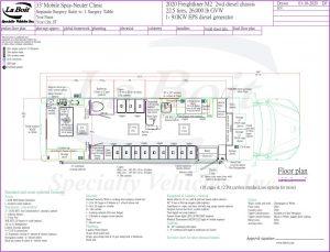 33ft Mobile Spay Neuter Clinic Standard Floor Plan
