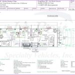 36ft Mobile Medical Clinic Two Exam Rooms w. Bathroom Floor Plan