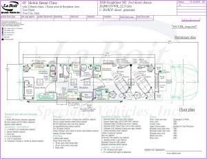 40ft Mobile Dental Medical Clinic Hybrid Floor plan