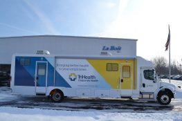 mobile audiology clinic passenger side view