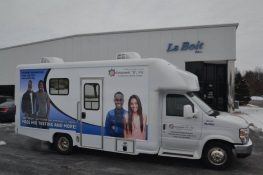 Mobile HIV/AIDS Testing Clinic PAssenger Side View