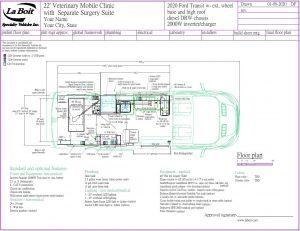ford transit van veterinary floor plan