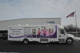 mobile mammography clinic passenger side view