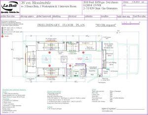 26ft 3 Bed Bloodmobile Floorplan