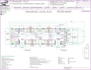 37ft 4 bed Bloodmobile Floor plan