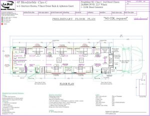 40ft 5 bed bloodmobile floor plan