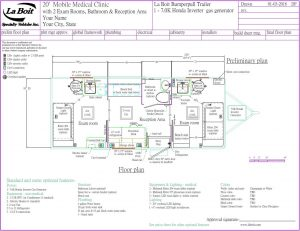 medical trailer floor plan
