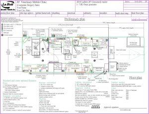 mobile veterinary trailer gooseneck floor plan